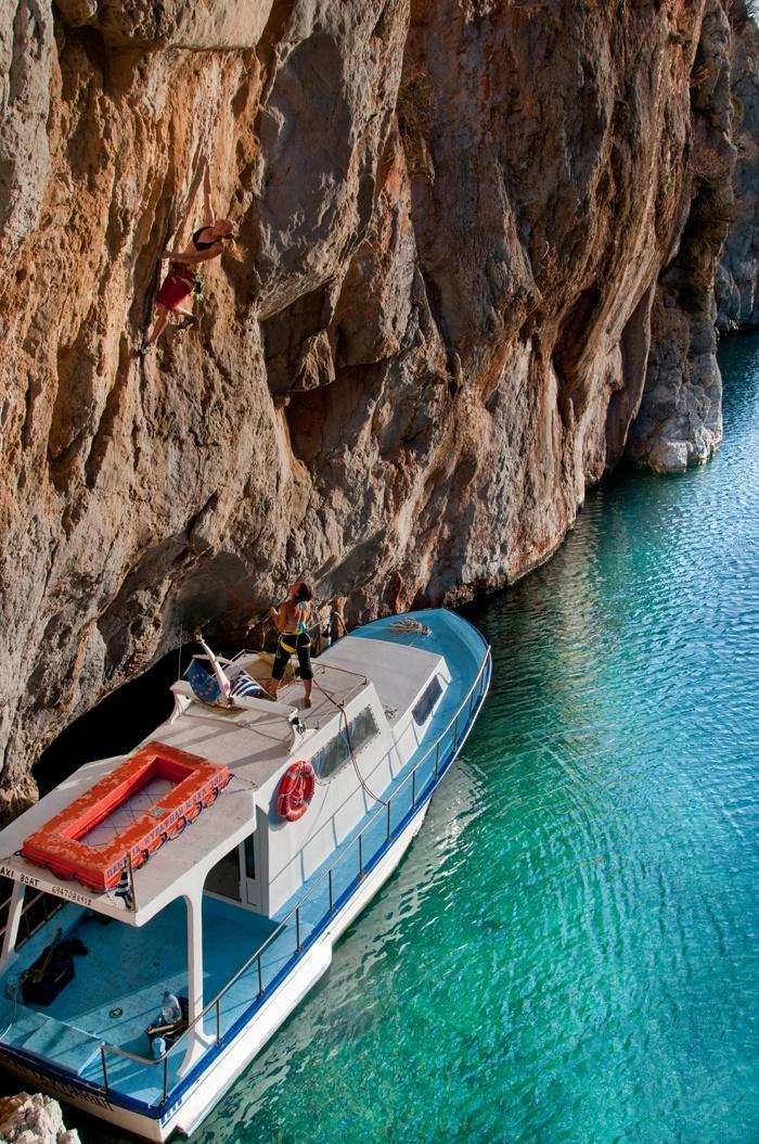 VISIT GREECE| Rock-climbing, Kalymnos, Dodecanese, Greece