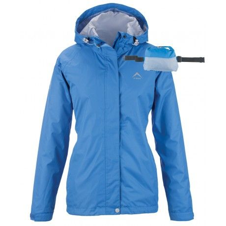 The K-Way Women's Misty Rain Jacket is lightweight, seam -sealed and 100% waterproof and windproof. It sports an adjustable hood which folds away into the collar as well as an adjustable hem and cuffs. It's also packable into the pocket and converts into a bum bag making it compact and easily transportable.