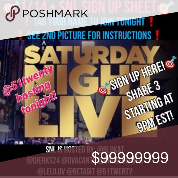 🎯SNL TONIGHT @houseofposh🎯THANK YOU YAZ Grab a friend! Join in! @houseofposh Other