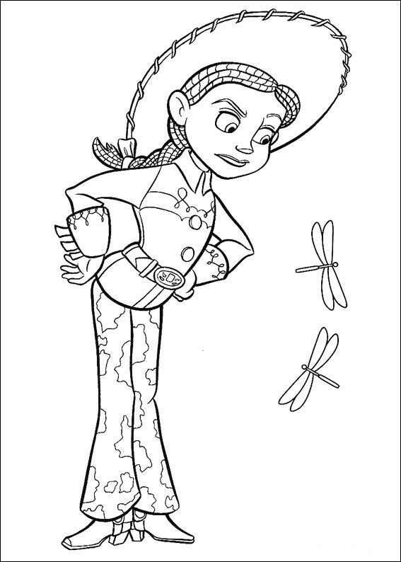 Disney Jessie Toy Story Coloring Pages Toy Story Coloring Pages Disney Coloring Pages Coloring Pages