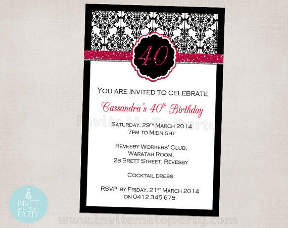 40th Party Invitation / Engagement Invitation by InviteMe2Party, $12.00
