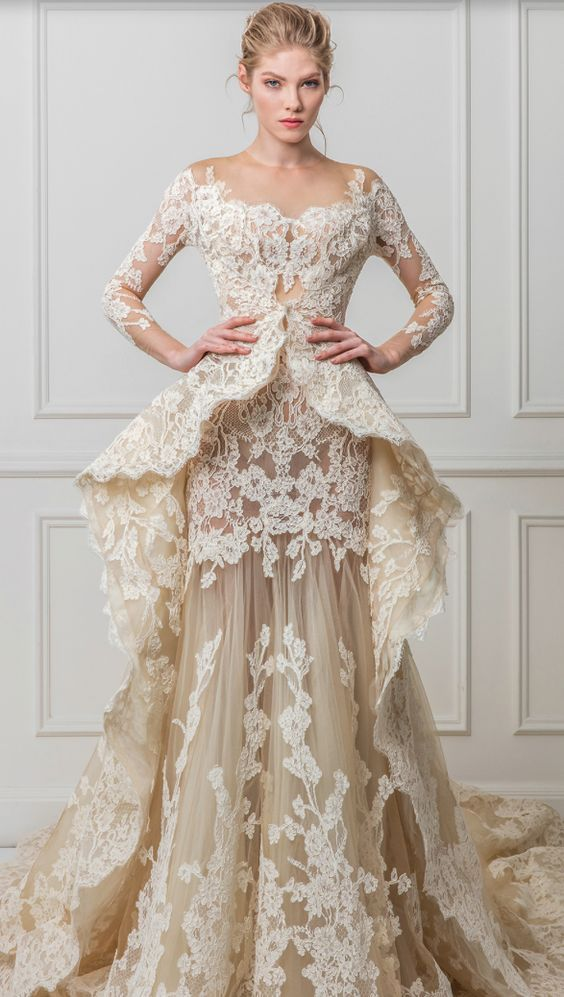 Featured Dress: Maison Yeya; Wedding dress idea.