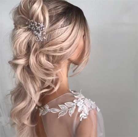 Hochzeitsfrisuren Fur Braut Neue Brautfrisuren 2019 Brautfrisur Halboffen Brautfrisur Offen Brautfrisu New Bridal Hairstyle Hair Styles Bridal Hairstlyes