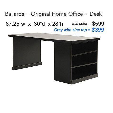 original home office desk return with open shelf cabinet