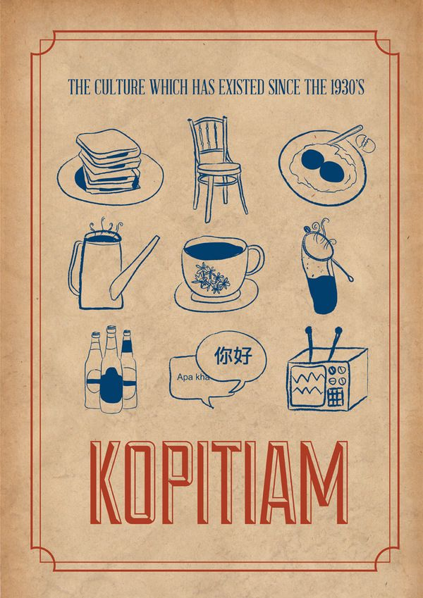 Kopitiam Poster on Behance~ Thinking of Kopitiam really makes me miss Singapore like crazy T_T