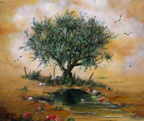 #olive_tree #painting Greek painter #art www.eshop-art.com