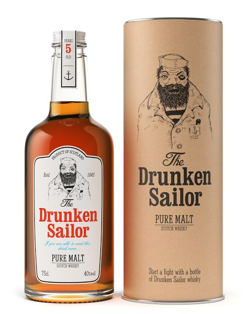 Packaging of the World: Creative Package Design Archive and Gallery: Drunken Sailor Whisky