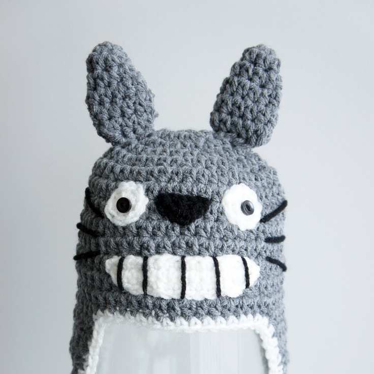 Crochet Pattern Totoro Hat : Totoro Hat, Crochet Baby Hat, Baby Hat, Animal Hat, Grey ...