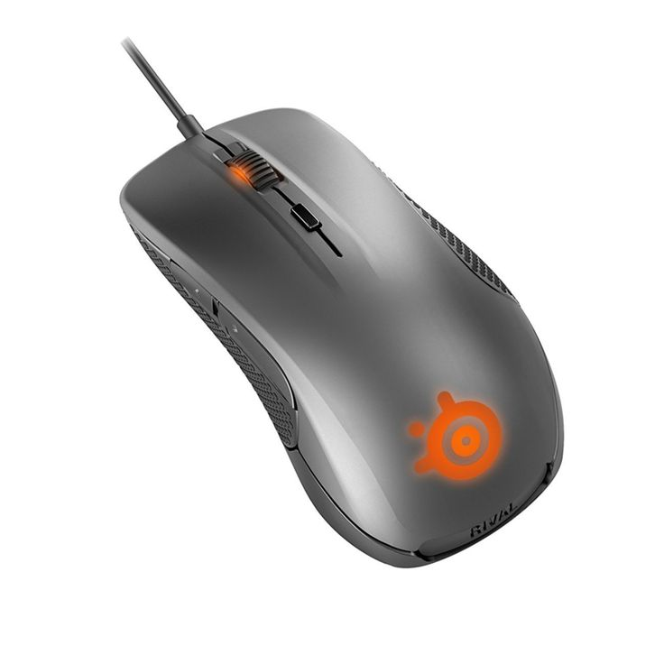 Original SteelSeries Rival 300 Gaming Mouse Mice Silver Edition USB Wired 6500 DPI Optical Mouse For FPS RTS MMO Gamer