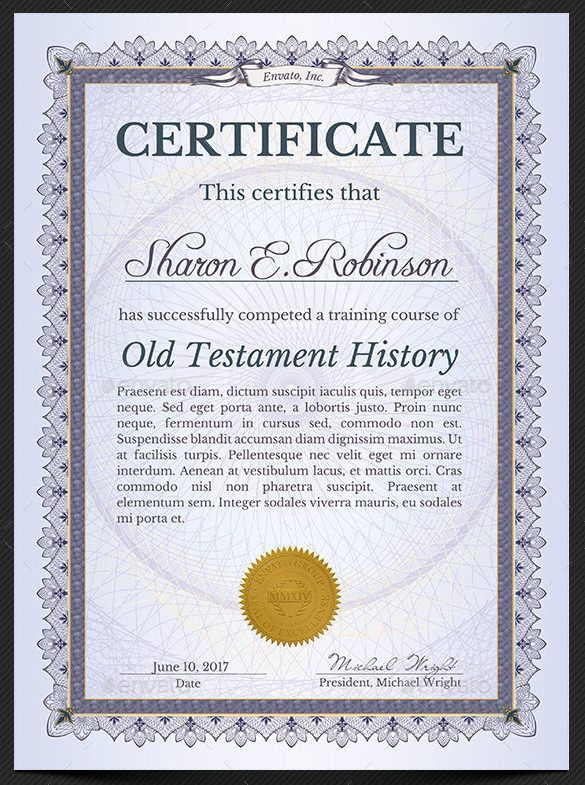 Certificate Of Completion Template Word template Certificate of