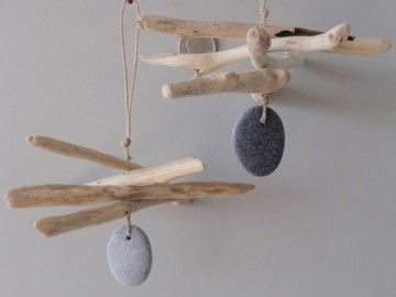 DIY driftwood mobile