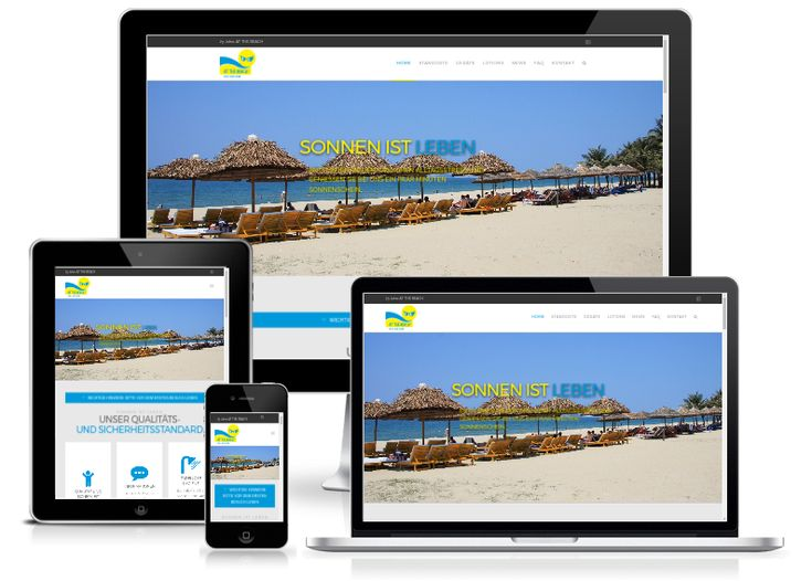 Neue Website für Sunpower / At the beach Solarien mit responsivem Design und WordPress 4.8