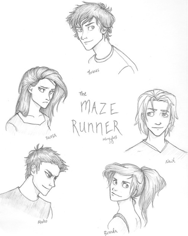 The Maze Runner characters- how I pictured them exactly