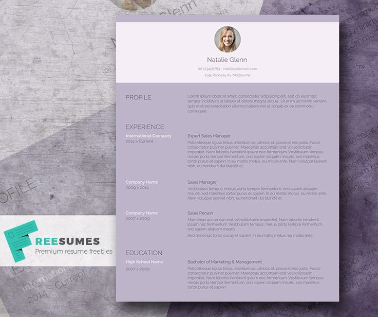 the working woman resume template freebie for ladies