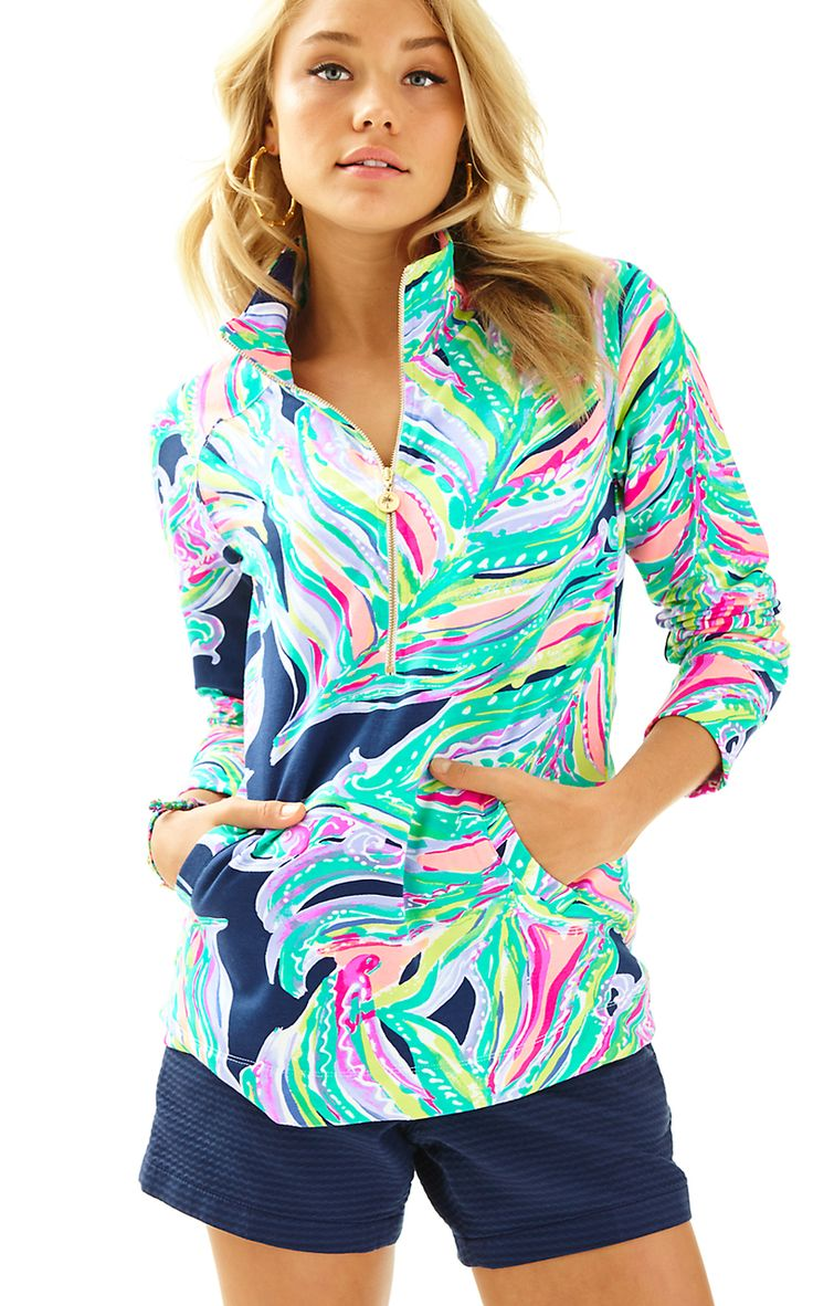 Lilly Pulitzer SKIPPER POPOVER in DONT LEAVE ME HANGING, BRIGHT NAVY @thepinkpelican