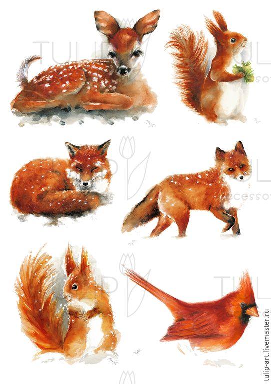 Купить Картинки для ткани фетра дерева перевод утюгом наклейки термотрансфер - иллюстрация, иллюстрации, термотрансфер