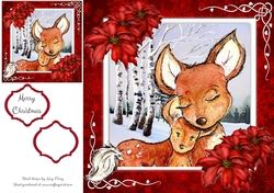 Beautiful Mum   Baby Fox 8x8 on Craftsuprint - View Now!