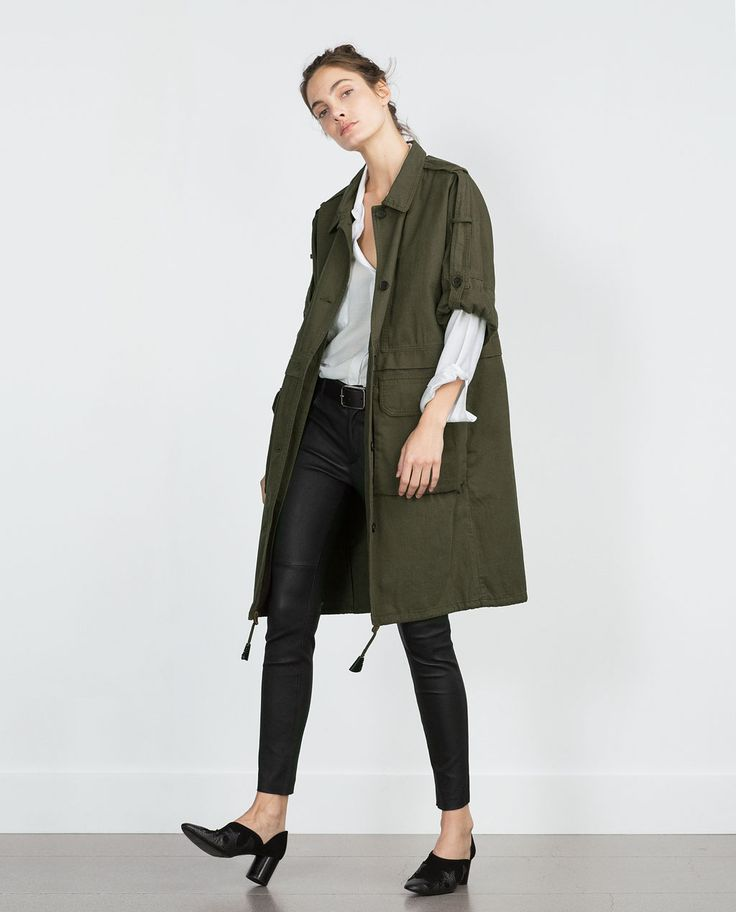 PARKA WITH ROLL-UP SLEEVES-View all-Outerwear-WOMAN | ZARA, $150