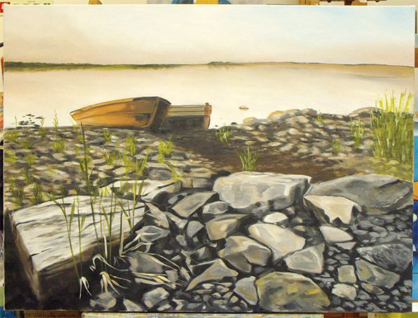 Pintura a óleo realizada pela Maria Antónia no nosso atelier!
