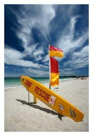 Lifeguards at duty