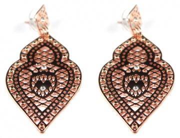 freida earrings: rose gold by Liberte
