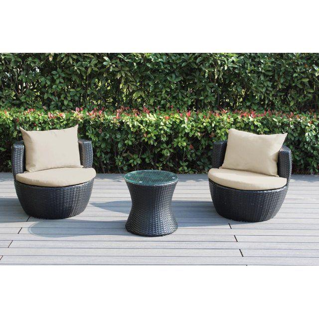 ohana depot ohana 3 piece deep seating group with cushion fabric turquoise