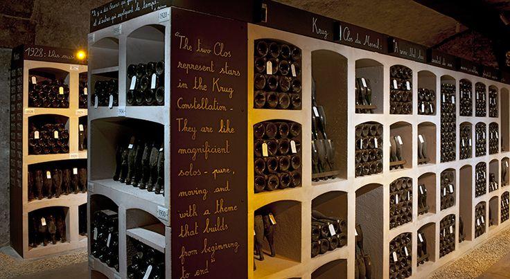 Krug Champagne storage