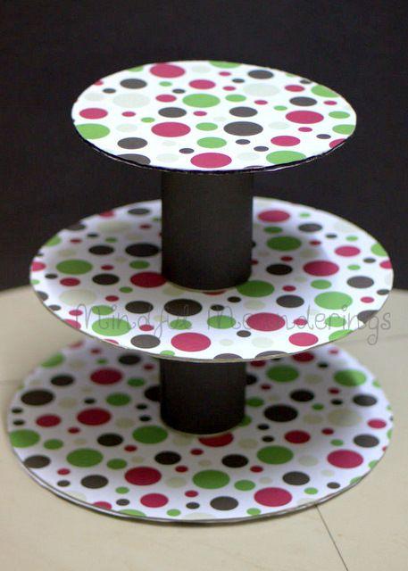 Artsy Craftsy Mom: DIY 3 Tier Cupcake stand