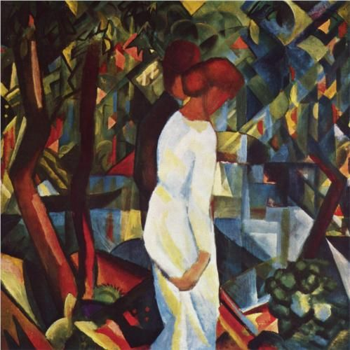 Couple in the woods - August Macke 1912