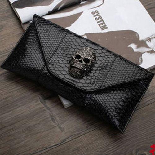 Black snake  #skull #bag #clutch