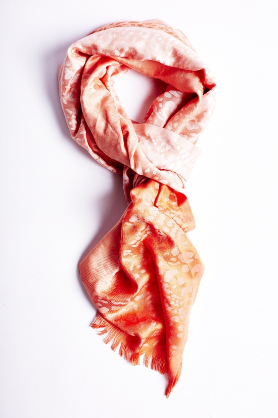 The perfect coral scarf for day or night! #CCStyle