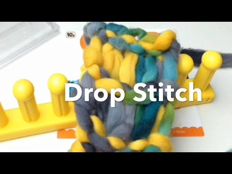Loom Knit -  Drop Stitch Infinity Scarf On Zippy loom - YouTube video▶ from GoodKnitKisses.