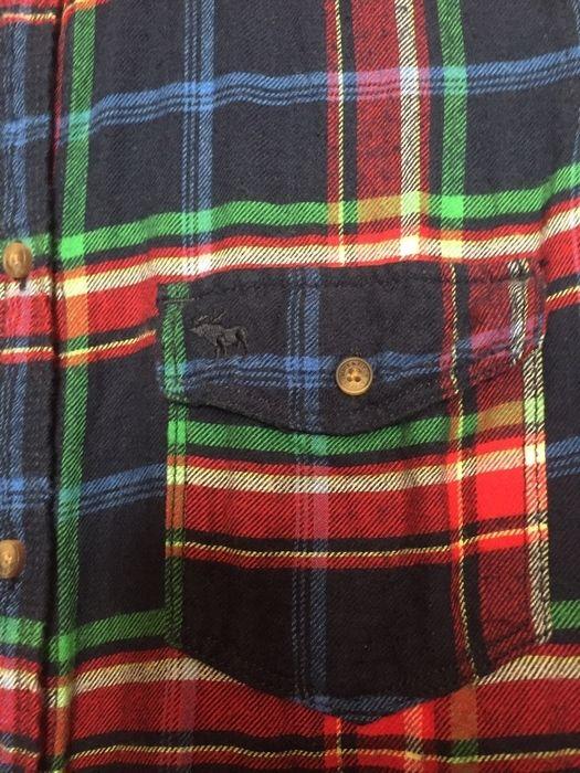 Chemise à carreaux rouge bleu vert Abercrombie et Fitch jamais porté