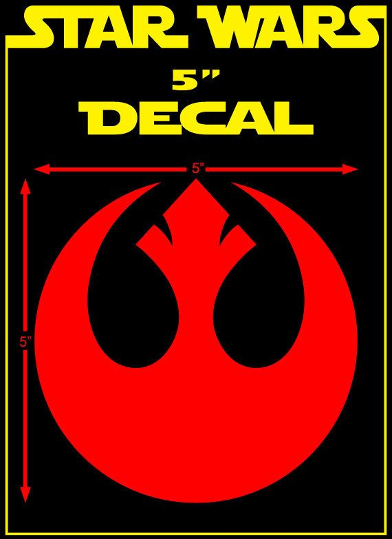 Starwars rebel alliance vinyl window decal 5 by skingraf on etsy