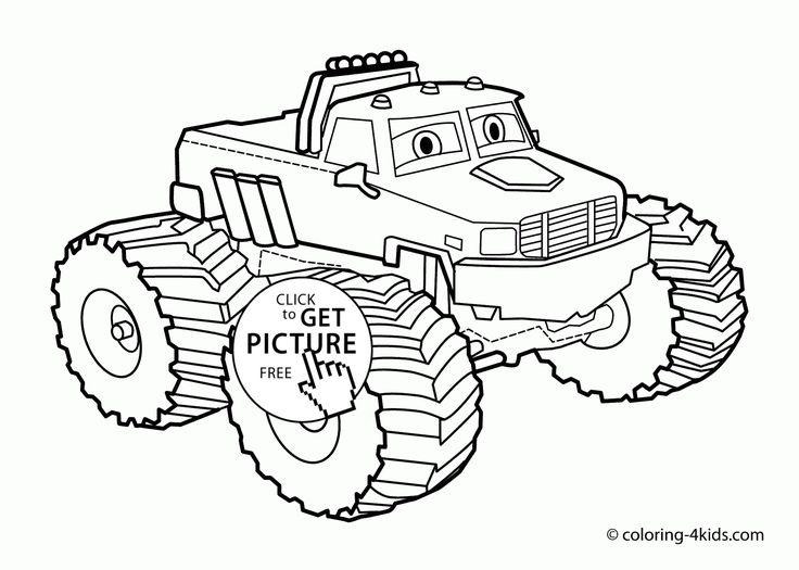 Mejores 86 imágenes de Monster Truck coloring pages en