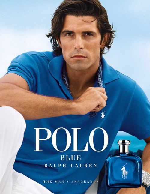 Polo Blue - Ralph Lauren.  Love this men's fragrance and love love the model.
