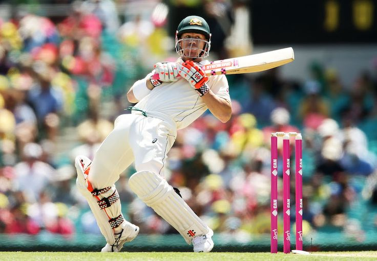 January 3, 2017: Australia v Pakistan, 3rd Test, Sydney, 1st day There were not many deliveries David Warner left alone on the first morning ©Cricket Australia/Getty Images