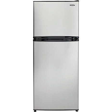 Danby DFF100C1BSLDB Refrigerator with Top-Mount Freezer, 9.9 Cubic Feet, Black/Spotless Steel, 2016 Amazon Most Gifted Refrigerators  #Appliances