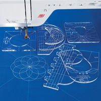 Quilt like you've got a longarm RULER FOOT AND TEMPLATE SET