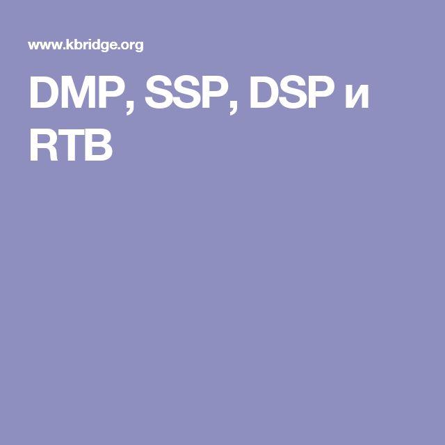 DMP, SSP, DSP и RTB