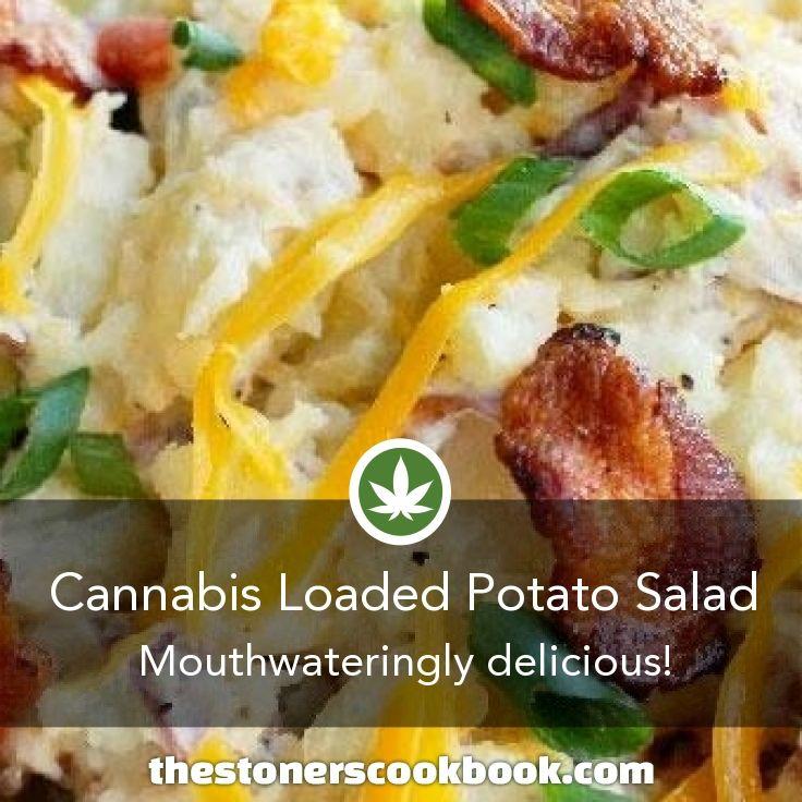 Cannabis Loaded Potato Salad from the The Stoner's Cookbook (http://www.thestonerscookbook.com/recipe/cannabis-loaded-potato-salad)