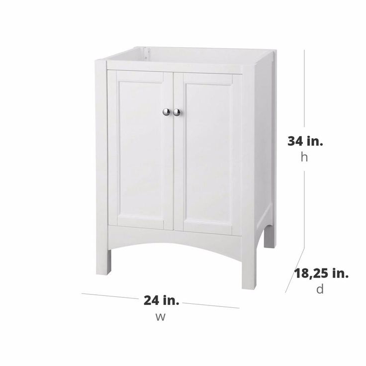 Photographic Gallery Home Decorators Collection Haven in W x in D x in H Vanity Cabinet Only in White