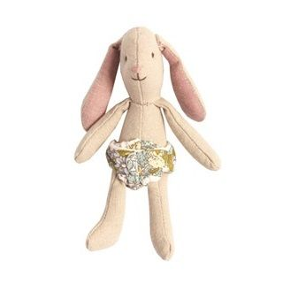 Maileg Micro Bunny The gorgeous Micro Bunny is a gorgeous addition for your Maileg collection.   Includes the flower printed removable diaper with extra outfits available to purchase seperately. $17.95 #easter #gift #bunny