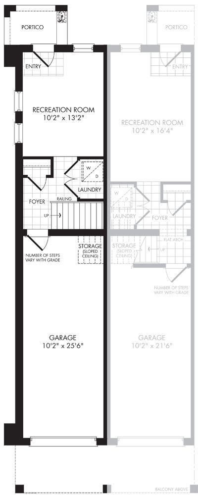 The floor plan of S1 Interior End Ground Floor.  #Uptownes  Design: Jo-Ann Capelaci  Builder: Geranium Homes