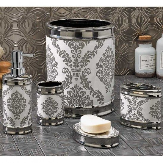 White Damask Bathroom Accessories. 1000  ideas about Damask Bathroom on Pinterest   Small bathroom