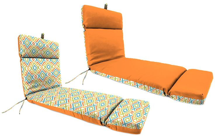 Jordan Manufacturing 72 x 22 in. Outdoor Chaise Lounge Cushion, Fresco Tango/Gareth Tropical. 100% spun polyester fiber fill. Choose from a variety of colors. Suitable for outdoor use. Cleans easily with solution of mild soap and water. Overall dimensions: 72W x 22D x 4H inches.