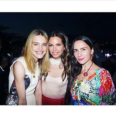 Наталья Водянова, Даша Жукова и Ольга Томпсон (фото из Instagram)