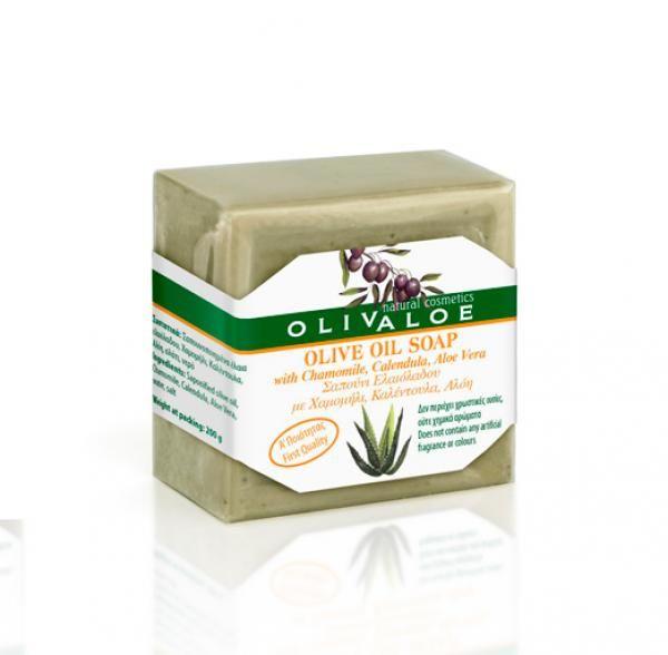 Olívás szappan aloe verával, körömvirággal és kamillával 200gr