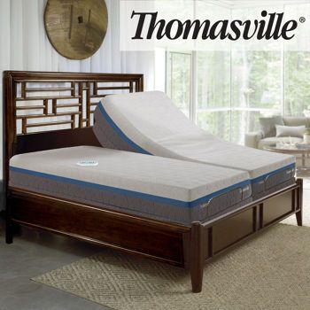 Thomasville Gel Choice 12.5 Adjustable base, Memory foam