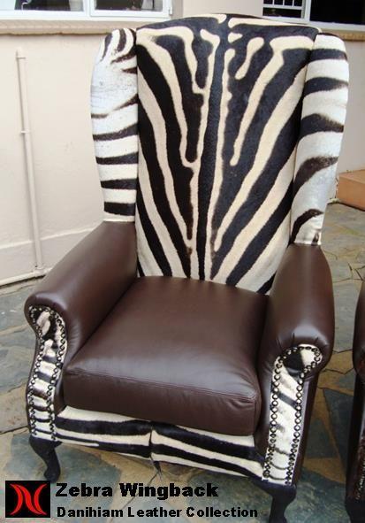 Zebra Wingback Chair #danihiam  Danihiam Leather Collection www.dlcleather.co.za info@dlcleather.co.za